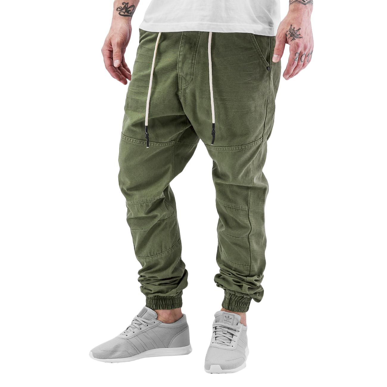 JUST RHYSE Брюки Borge Antifit Chino Olive